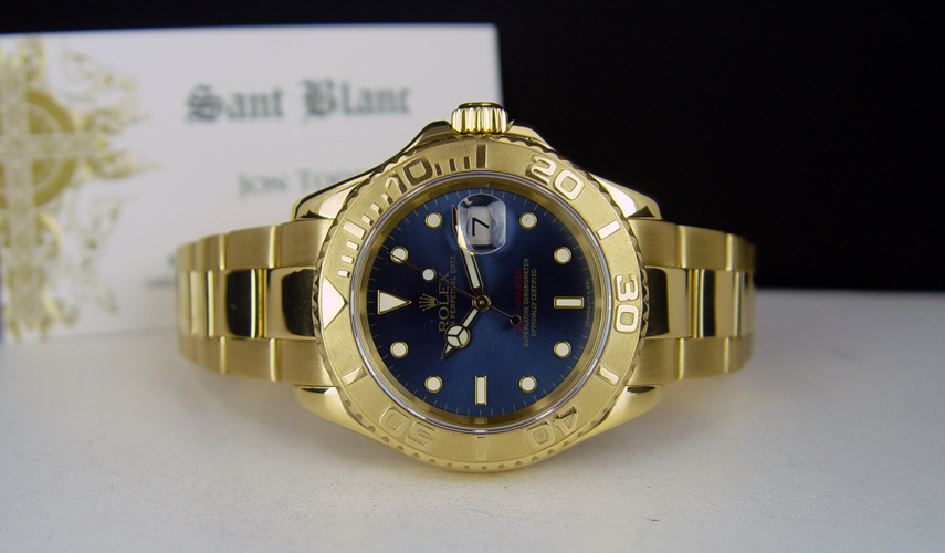 Swiss Watches ROLEX , 40mm 18kt Yellow Gold YachtMaster