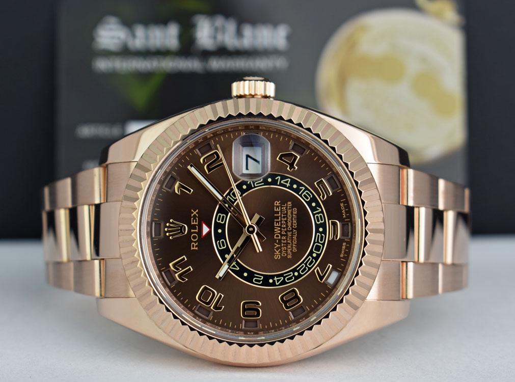 8434774b42d ROLEX - EverRose Gold Sky-Dweller - Chocolate Arabic - Annual Calendar -  326935